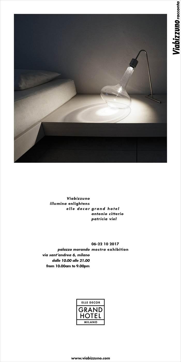 Viabizzuno enlightens the exhibition elle decor grand for Elle decor hotel palazzo morando