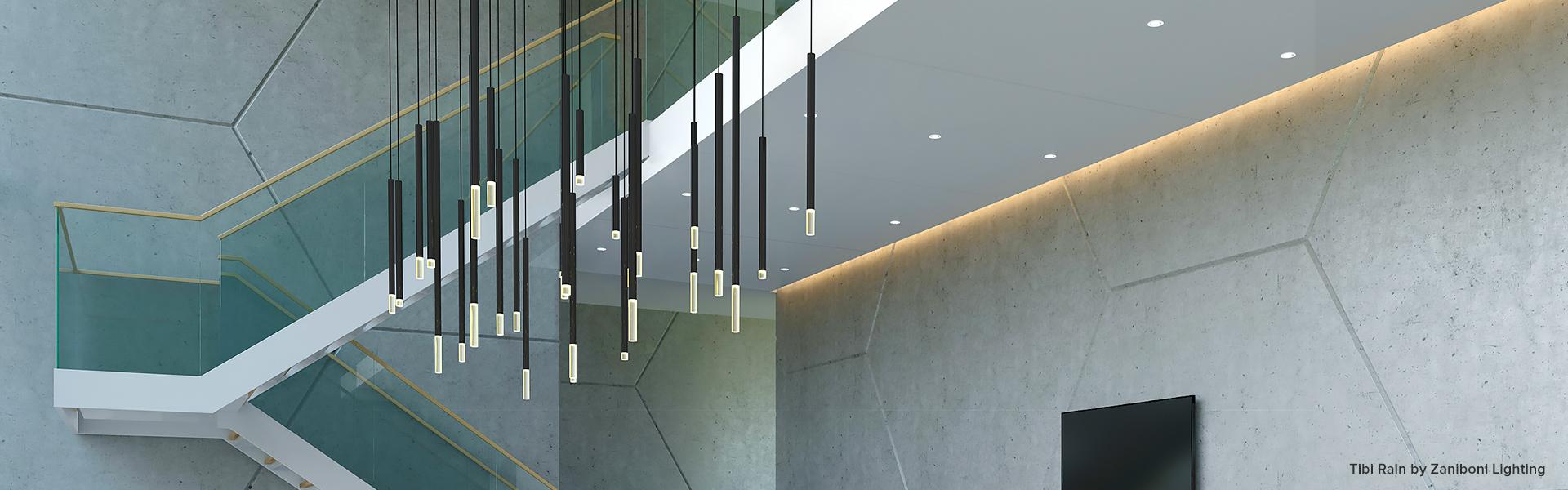 tibi rain installation zaniboni lighting